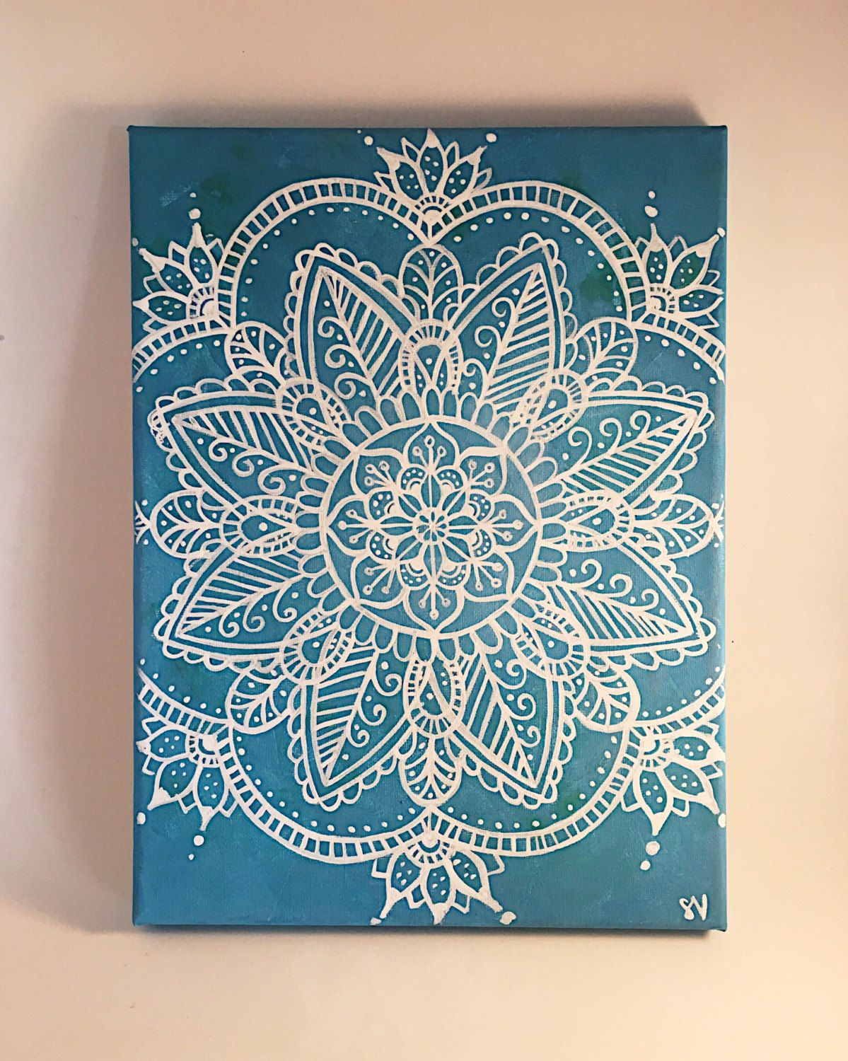 Mandala Canvas Painting Wall Art Wall Room Decor Ideas
