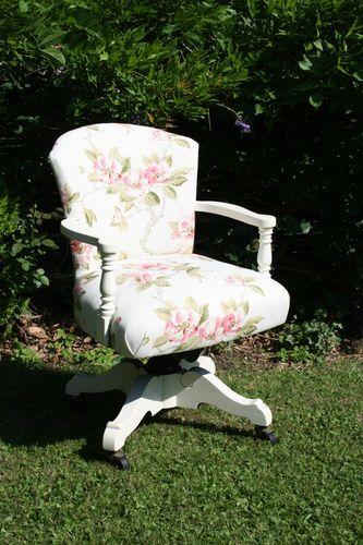 Shabby Chic Office Swivel Chair