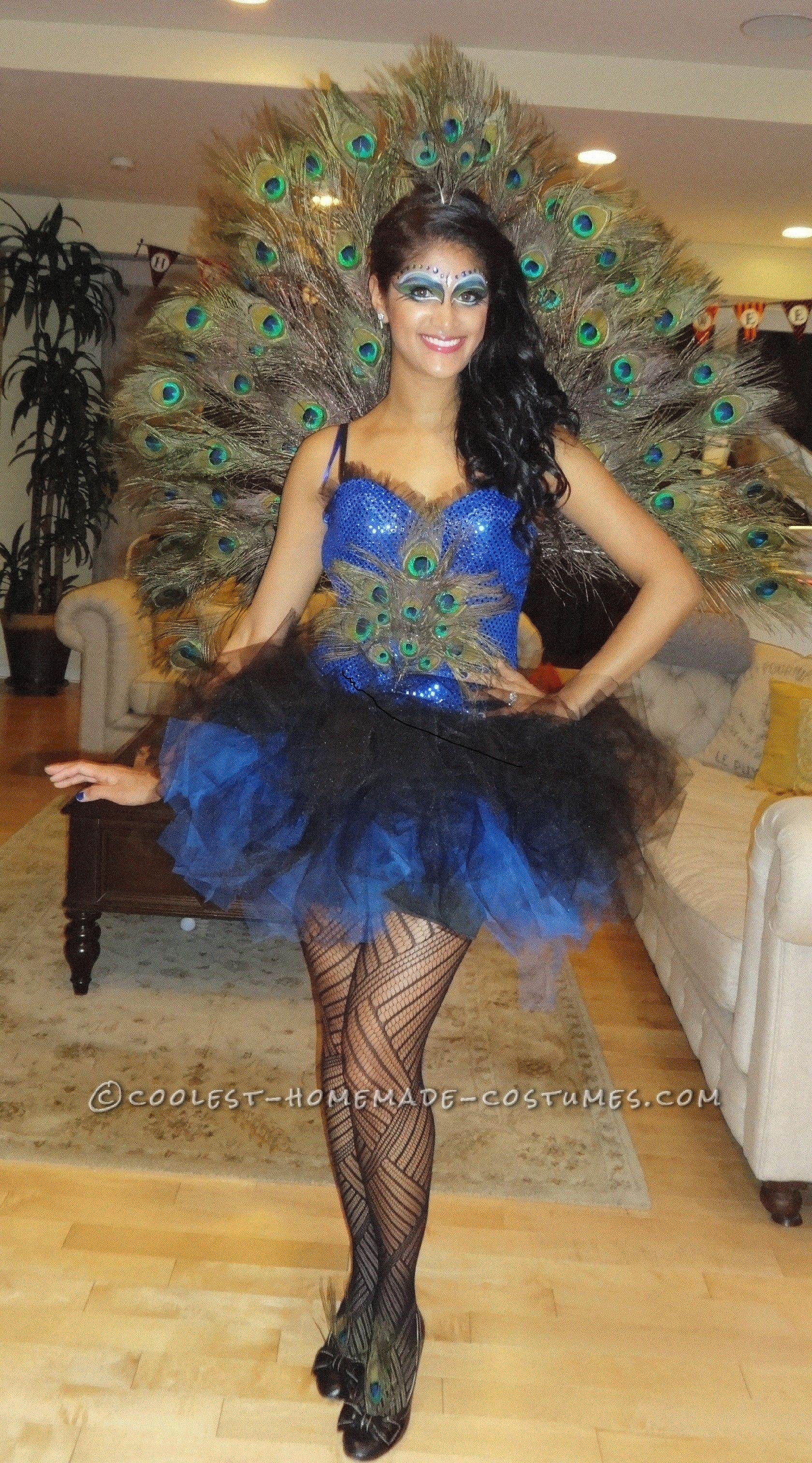 069650ae8 Beautiful DIY Woman's Peacock Costume... Coolest Halloween Costume Contest