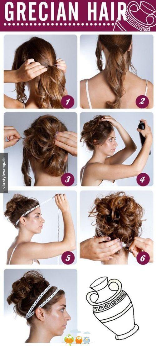 Haare Wie Eine Griechische Schönheit Mottowoche Pinterest