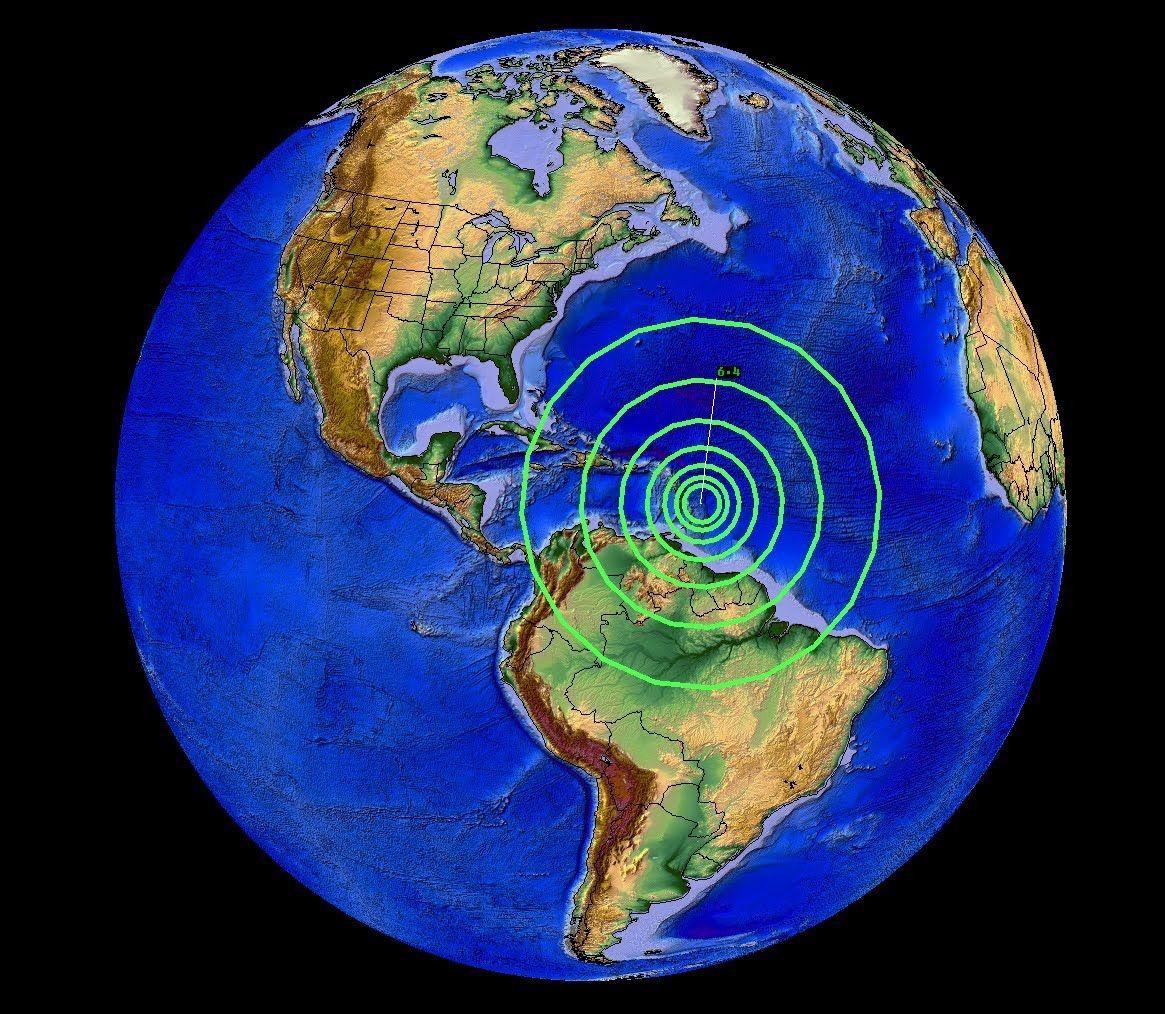 7/16/2015 -- Large M6.5 earthquake strikes Caribbean near Barbados https://youtu.be/wDRskNIWkl4