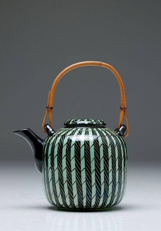 katnr 924 teekanne hedwig bollhagen dresden mitte 20 jh art deco figurine pottery. Black Bedroom Furniture Sets. Home Design Ideas