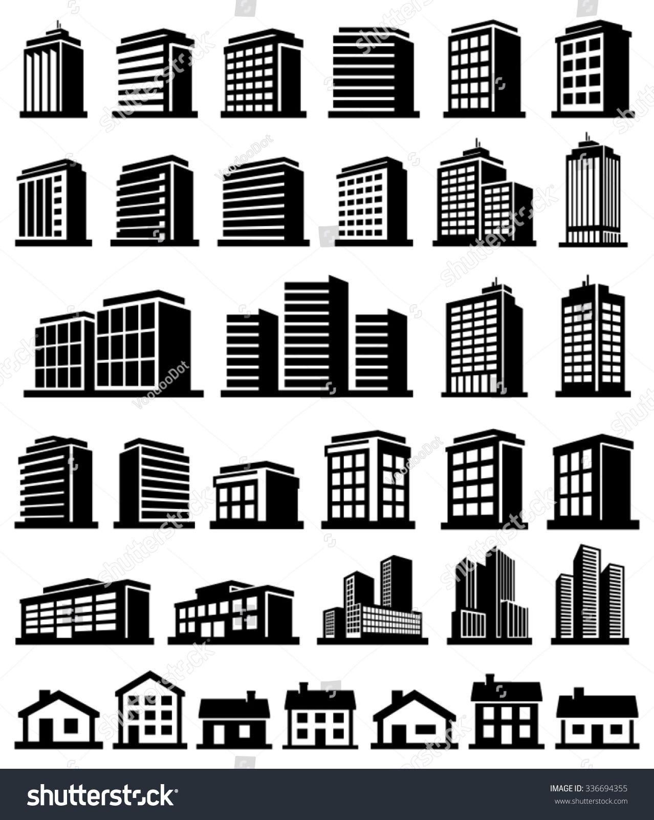 Buildings icons set vector Building icon, Icon set