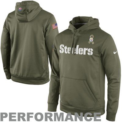 low priced 9bcd0 f2043 Nike Pittsburgh Steelers Salute to Service KO Pullover ...