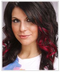 Love these peekaboo highlights, esp this color!