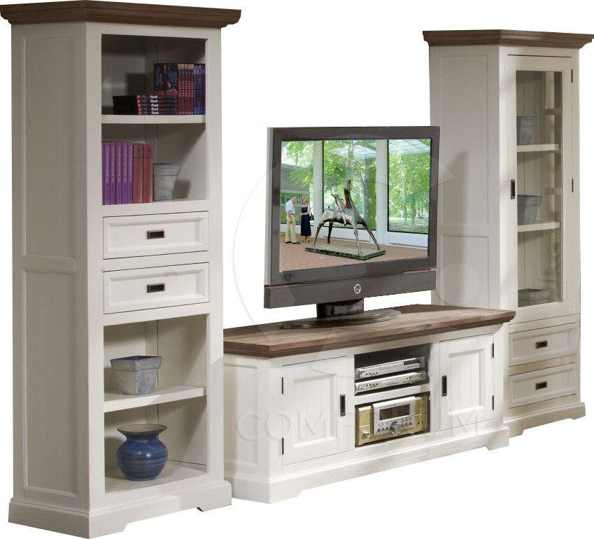 salon ensemble meuble tv bois massif