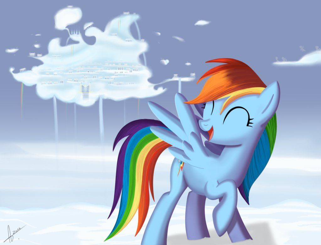 mlp rainbow dash and cloudsdale rainbow dash pinterest