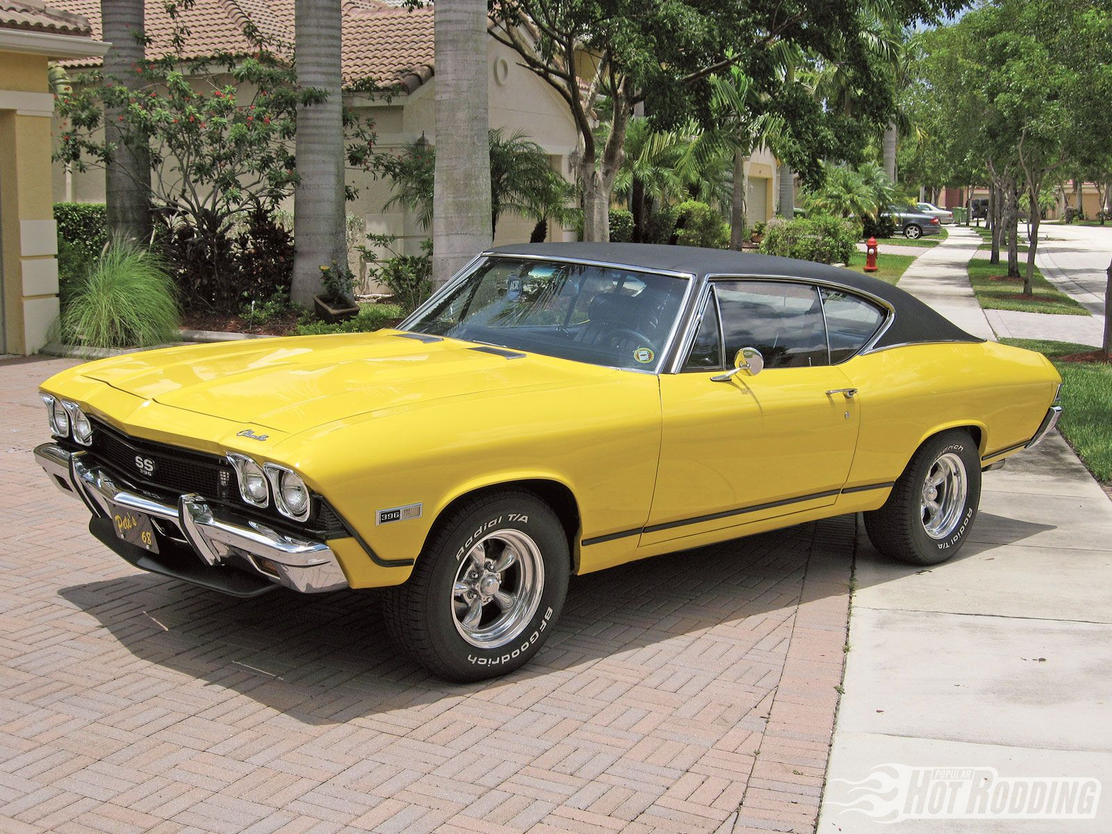 1968 Chevy Chevelle Yellow Ss Camaro Photo 1  american muscle
