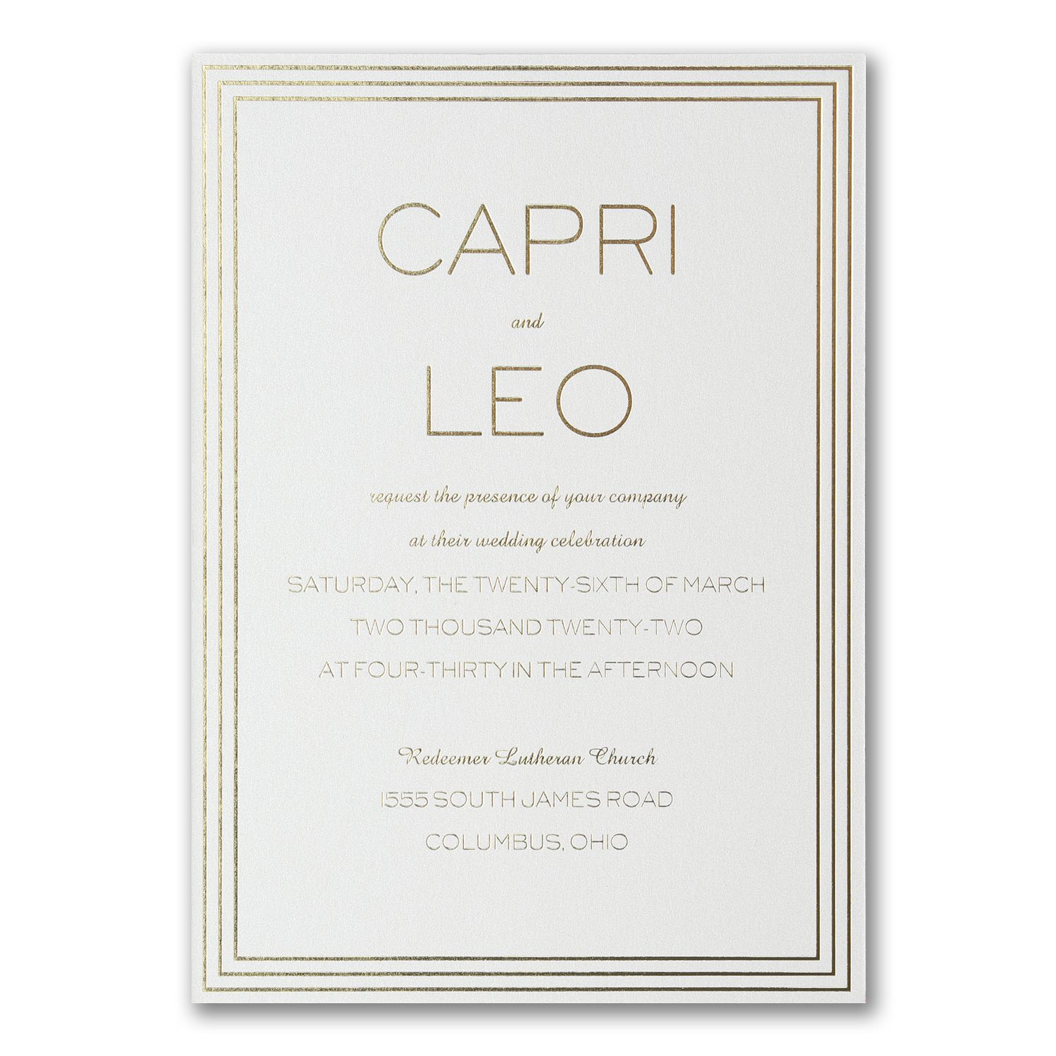Celebrity Wedding Invites: Lovely Marble - Double Thick Invitation