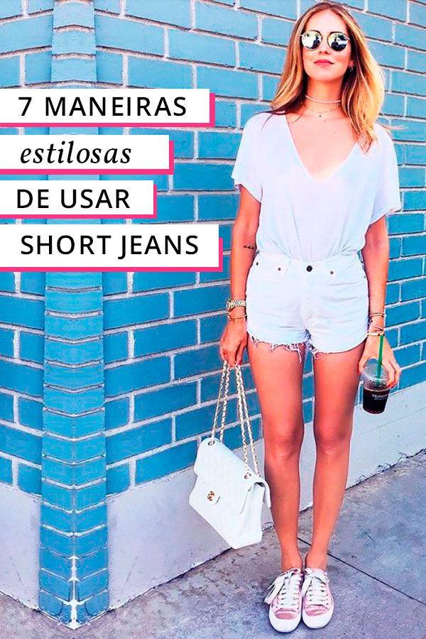 Descubra maneiras estilosas pra inovar na hora de usar o seu shorts jeans!