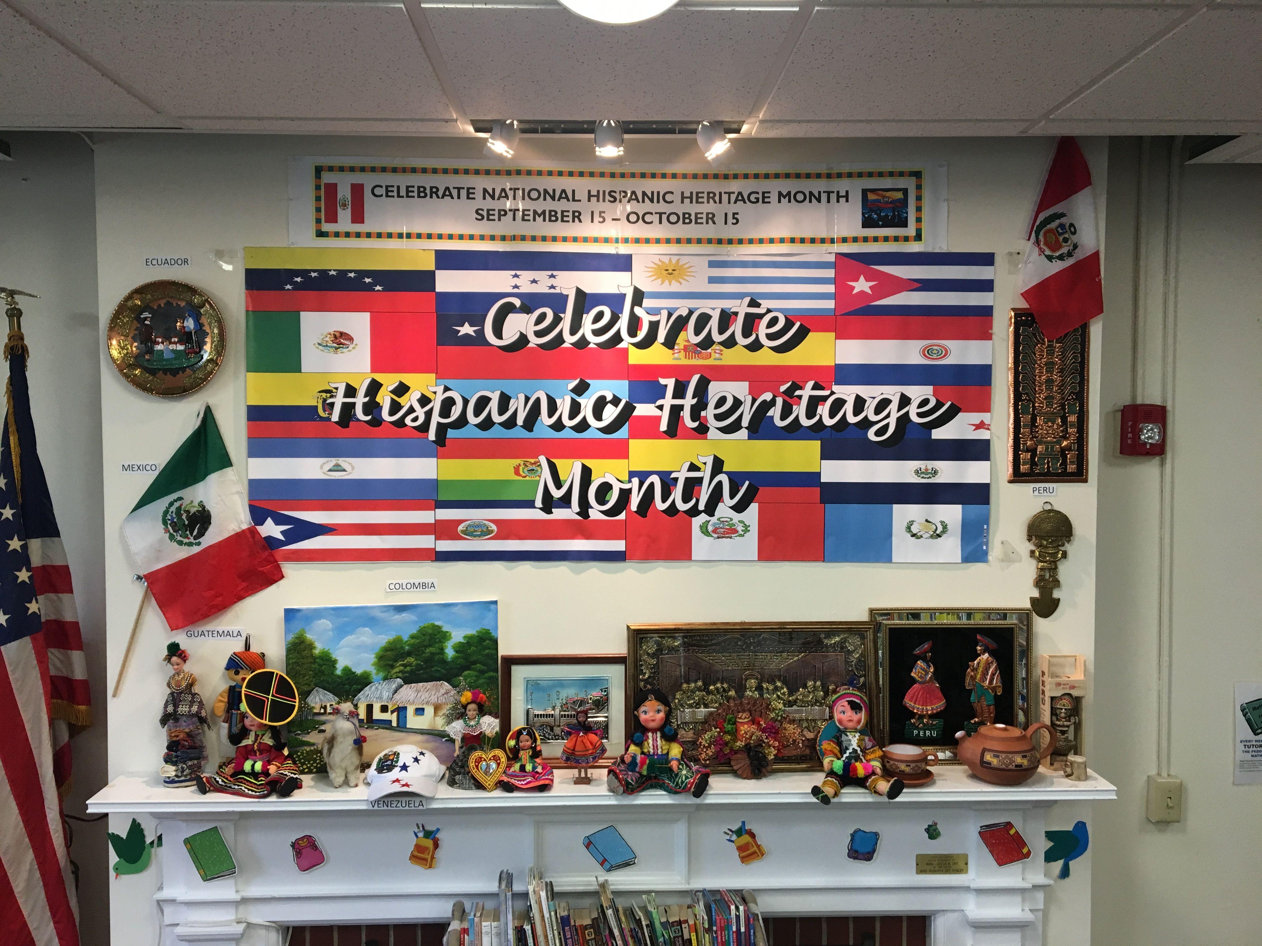 Hispanic Heritage Display At The Hightstown Branch