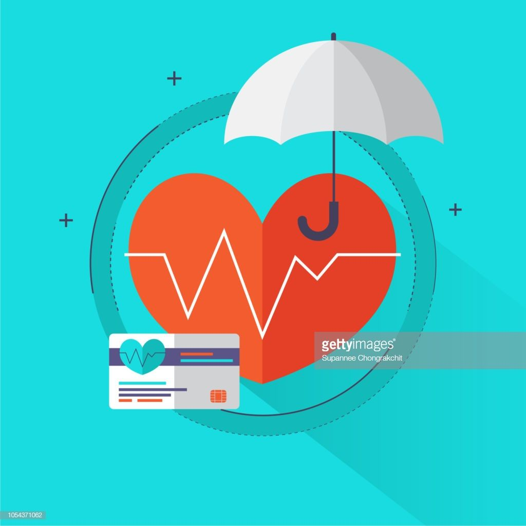 Vector Art Health Insurance Concept Health Care Info Graphics