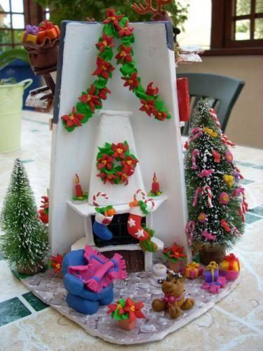 Resultado de imagen para decoracion navidad con tejas - Tegole decorate istruzioni ...