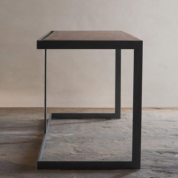 Elegant Items Similar To Suspended Wood And Metal Desk Modern Industrial Design On  Etsy