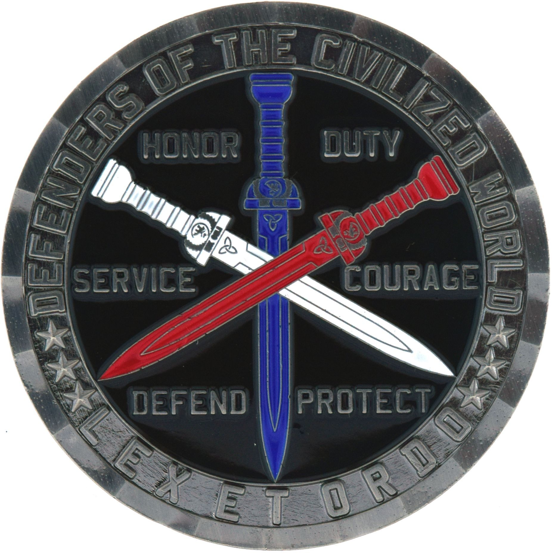Knights of the Blue Order Challenge Coin Thin blue line