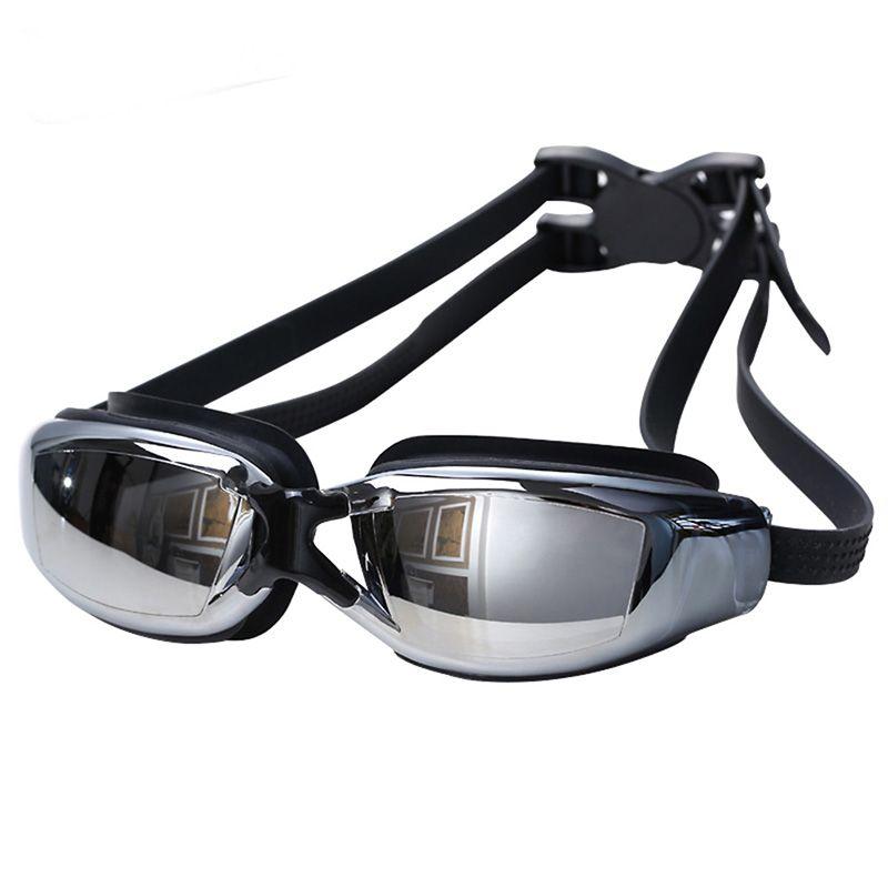 h639 Free shipping sale myopia waterproof anti-fog electroplating Swim  Eyewear Bring earplugs swimming glasses  9564d9eaff