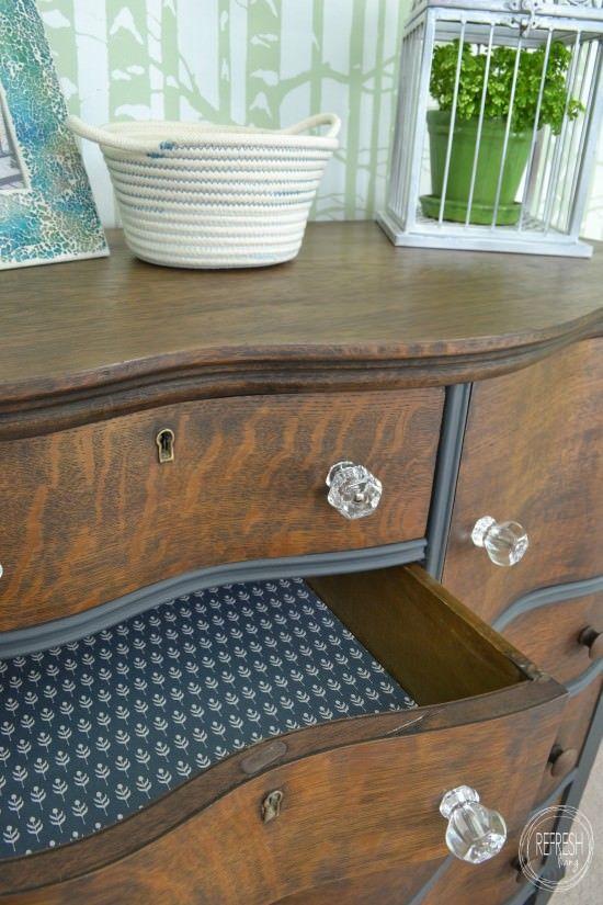 Oak Dresser Staining Furniture