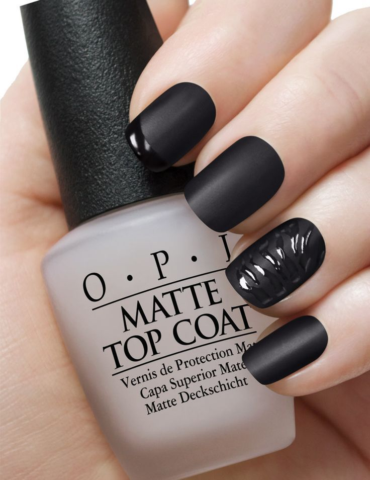 Matte black nails. | Nails | Pinterest | Matte black nails, Black ...
