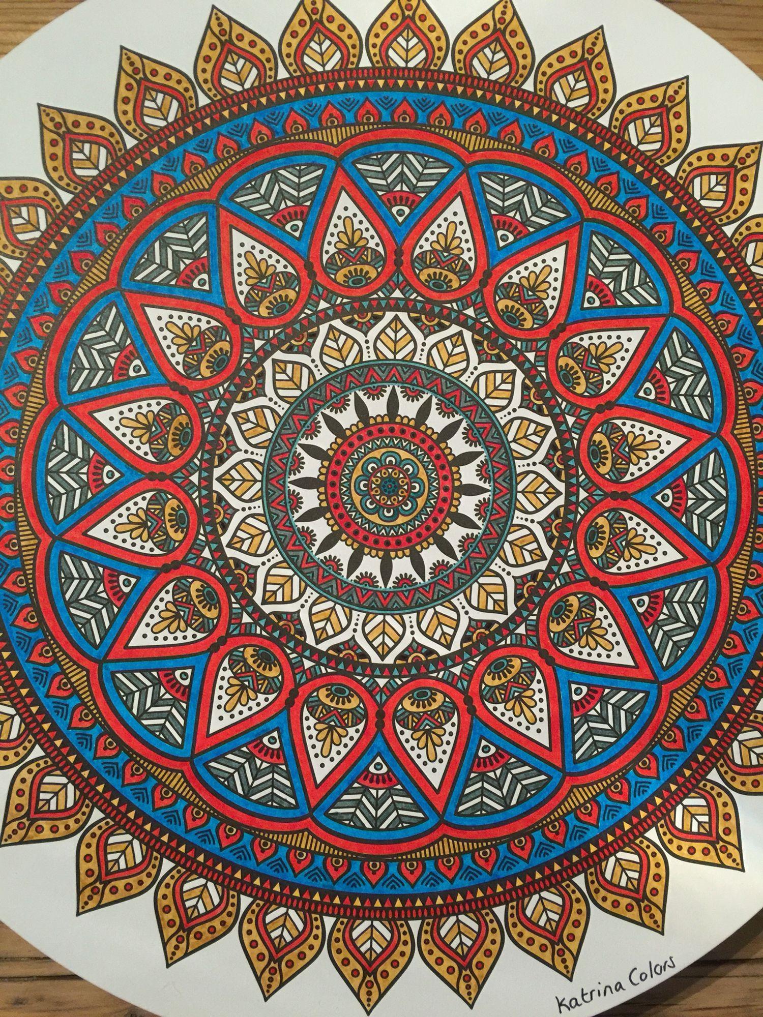 Mandala / 100 creaties mandala / stabilo / faber castell / staedtler
