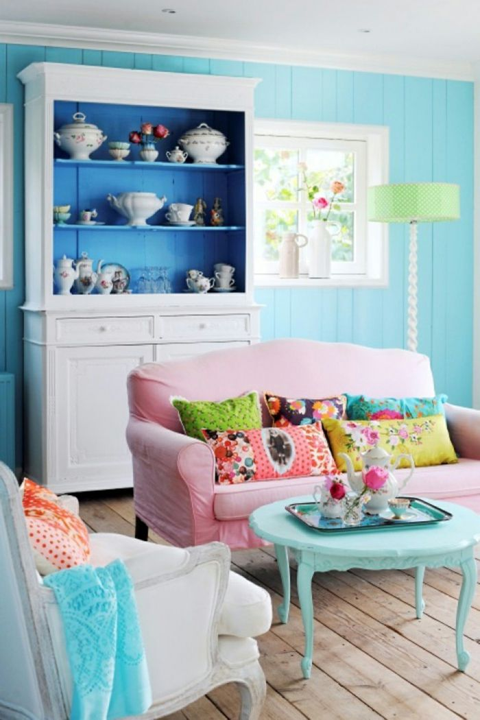 ▷ 1001 + Wohnzimmer Ideen für kleine Räume zum Entlehnen | Rosa ...