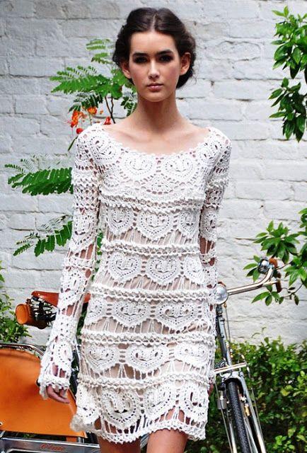 graficos y crochet: vestido vanessa montoro 2.5 mm   vestidos al
