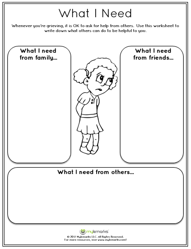 Help Children Experiencing Grief With This Worksheet See