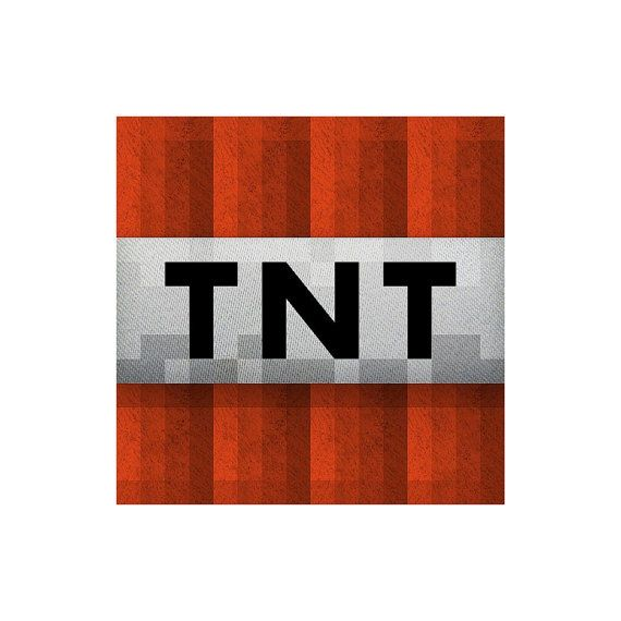 5 X 5 Minecraft Tnt Vinyl Wall Decal By Wilsongraphics On