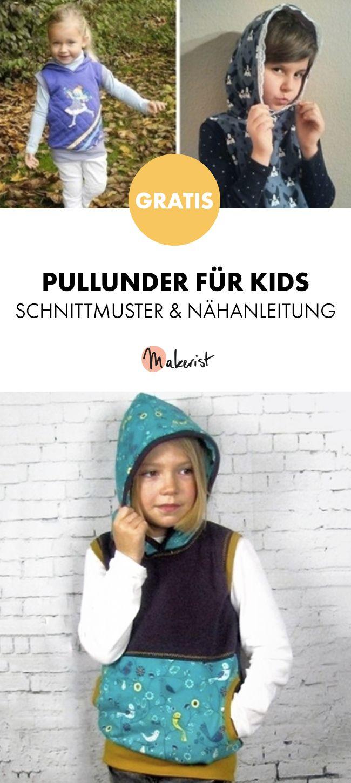 Gratis Anleitung: Pullunder für Kinder nähen - Schnittmuster und ...