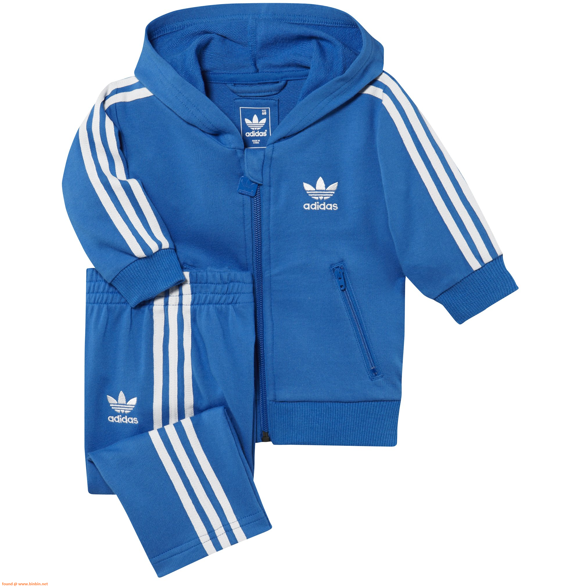 Branded Adidas - Hooded Tracksuit in blue for kids