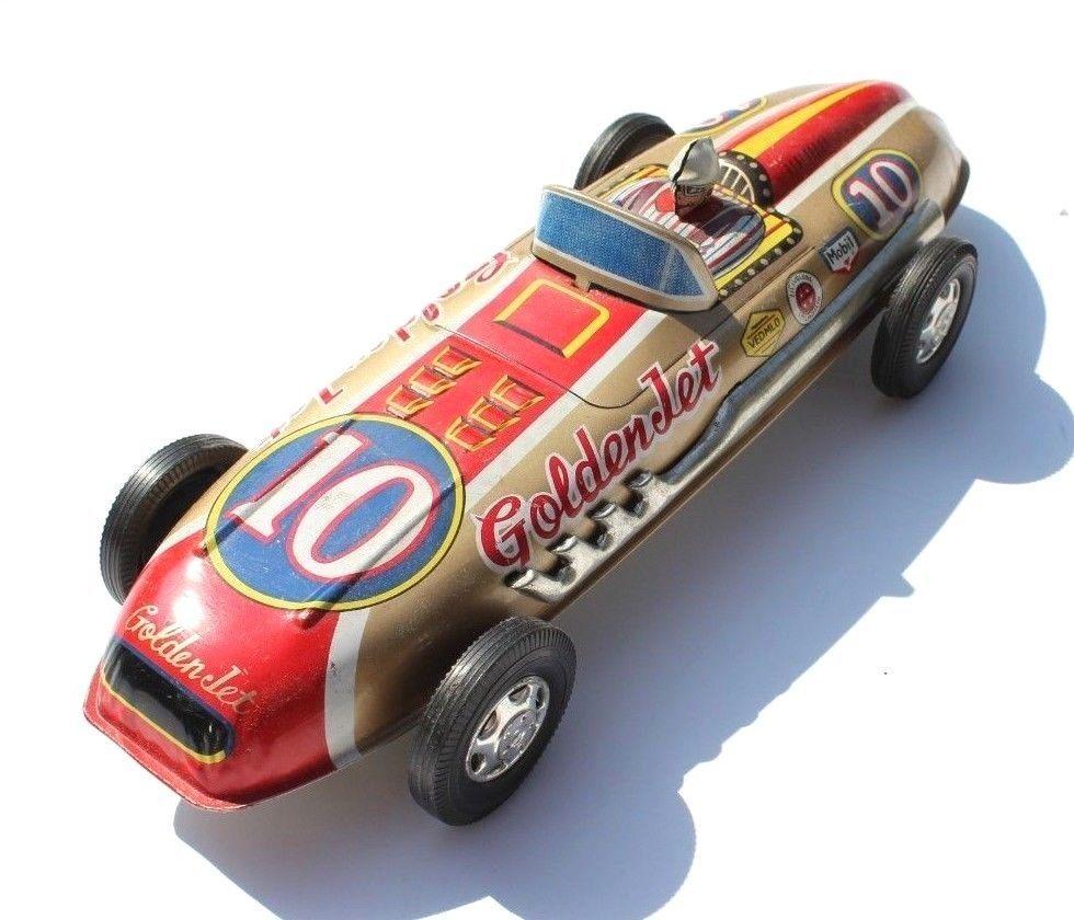 Vintage Golden Jet Racer 10 Nishimura SN Japan tin