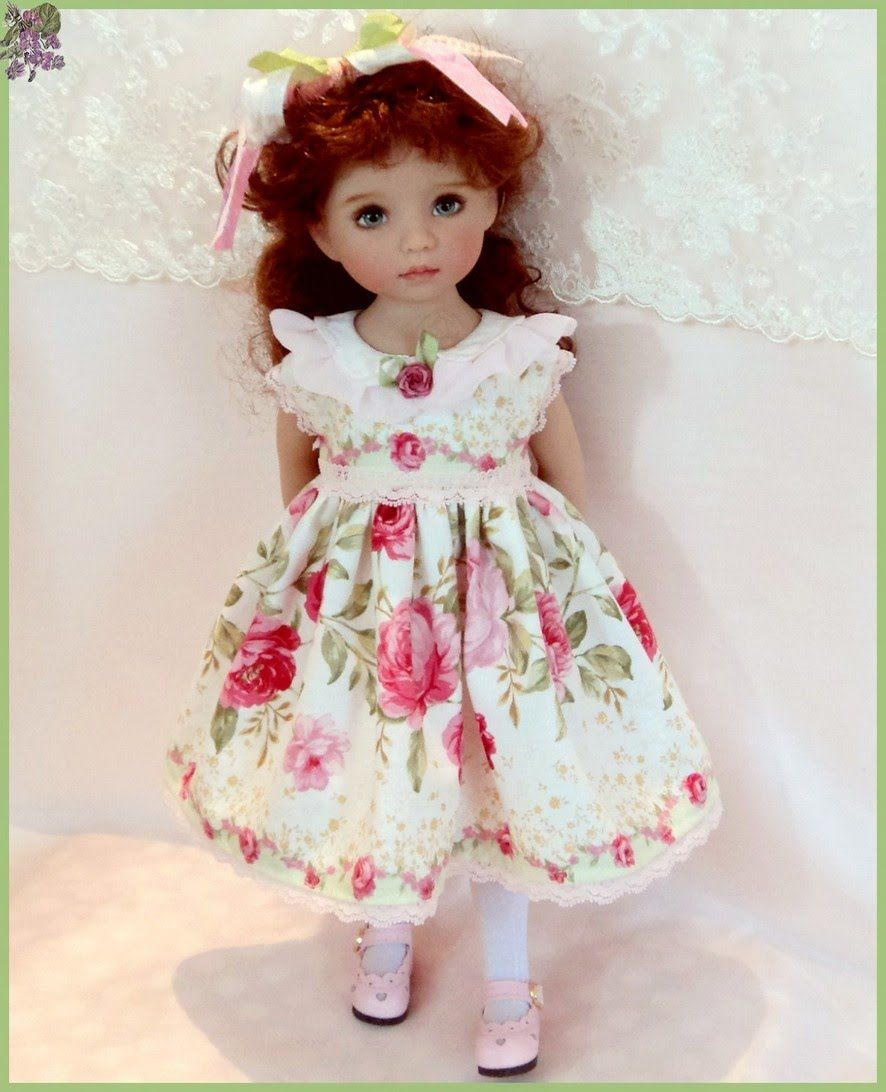 """""""Beauty Of May """" Dress for Little Darling 13"""" Doll"""