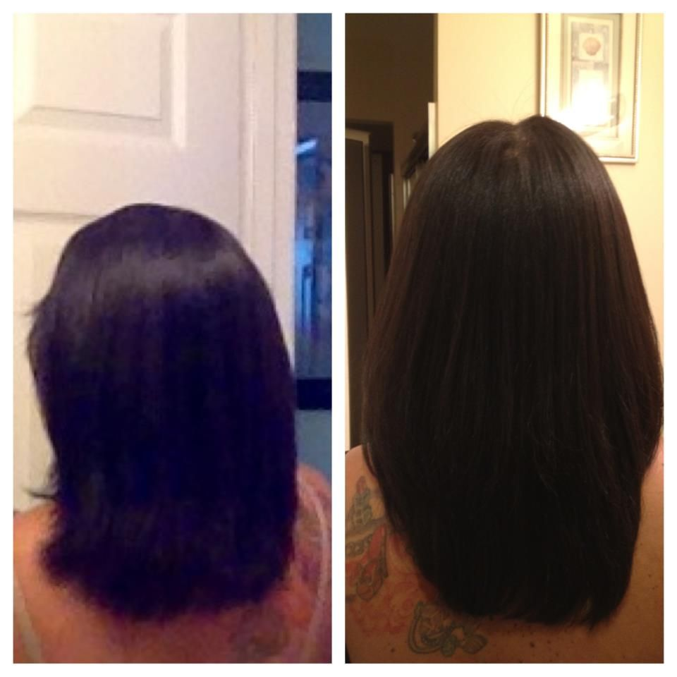 Before & after 4 months of using hairfinity & here are the