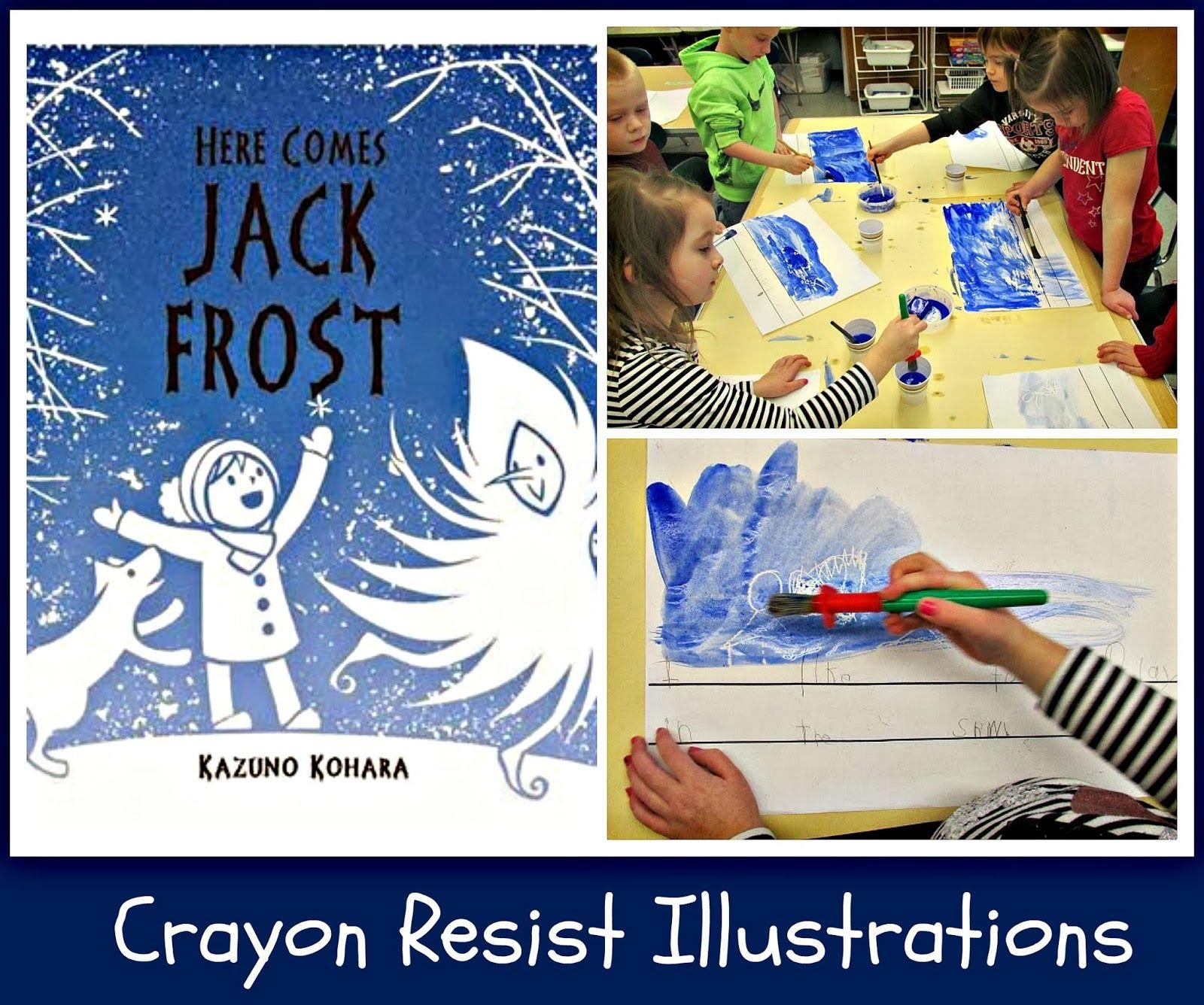 Jack Frost Art Crayon Resist