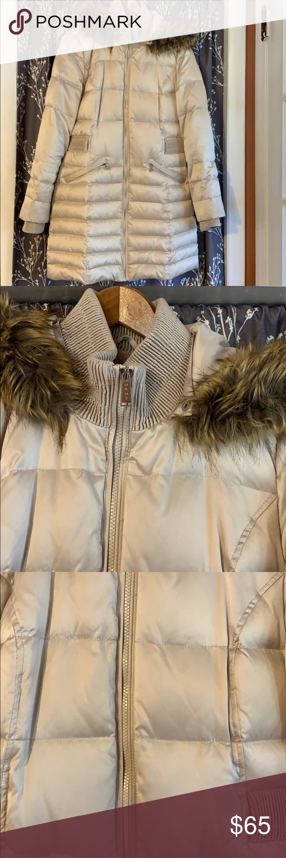 Dkny Taupe Puffer Coat Puffer Coat Dkny Taupe [ 1740 x 580 Pixel ]