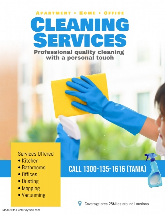 House Cleaning Services Flyer Poster Template Postermywall Cleaning Service Flyer House Cleaning Services Clean House