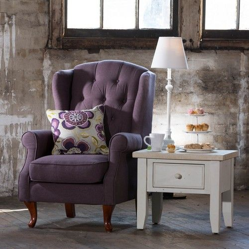 Sheffield Wingback Chair Aubergine For A Quiet Reading Corner. 1825  Interiors Opening Sat 9th May At Crossroads Homemaker Centre.