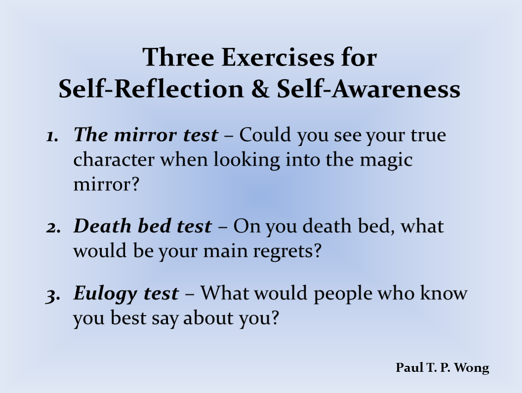 Exercises For Self Reflection And Self Awareness With