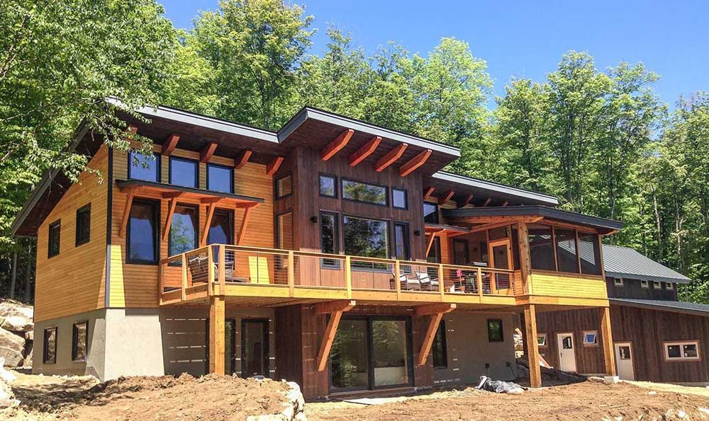 The Burke Timber Frame Home Designs Timberbuilt Timber Frame Homes Mountain House Plans Modern House Design