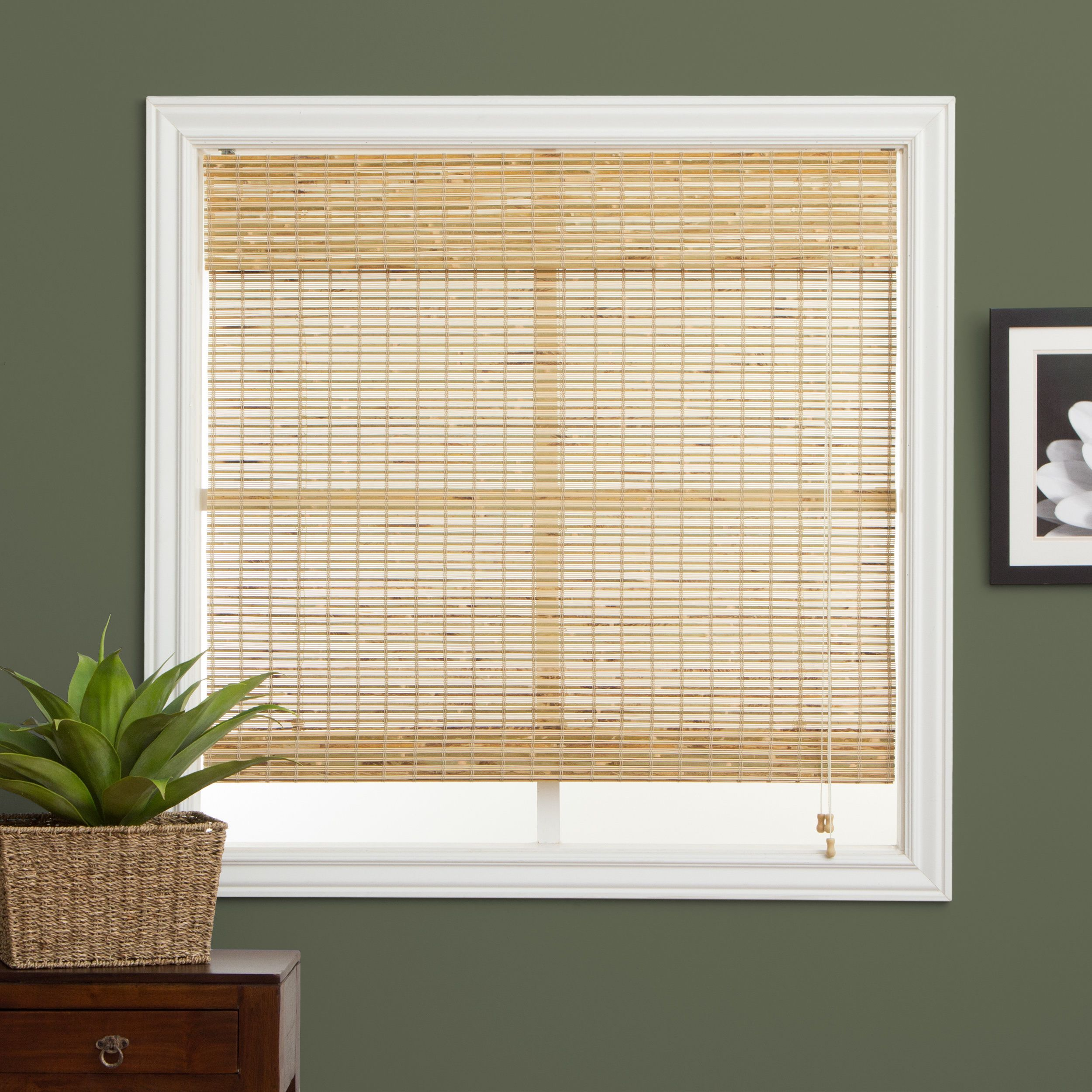 Cover Your Windows In Style With These Roman Style Tan Bamboo