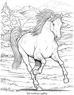 Inkspired Musings Crayons To The Rescue Horse Coloring Pages