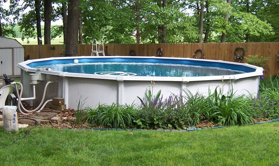Luxury Backyard Swimming Poolsoval Above Ground Pool Deck 10 ft above ground pool | pools & backyards | pinterest | ground