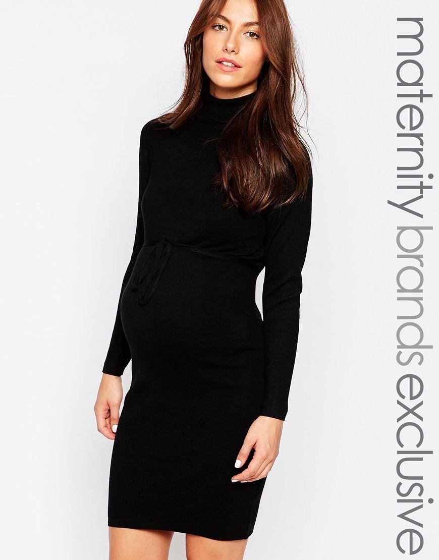 850bdda6e9df Mamalicious Roll Neck Dress | MILF Style | Roll neck dress, Dresses ...