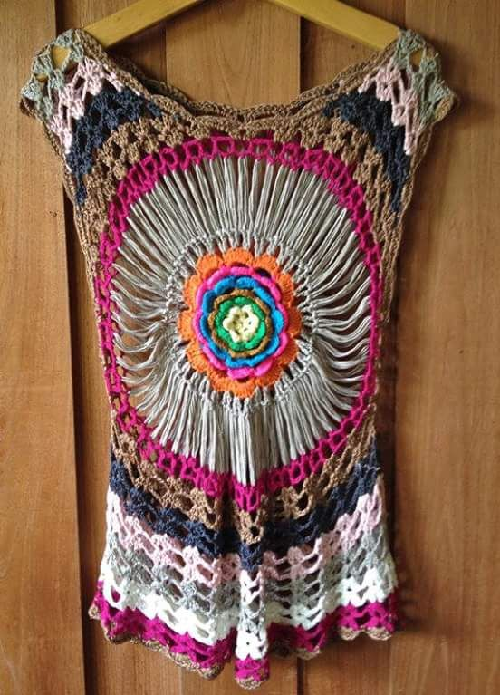 31f7f5cc0d Blusas em crochê estilo mandala. MANDALAS