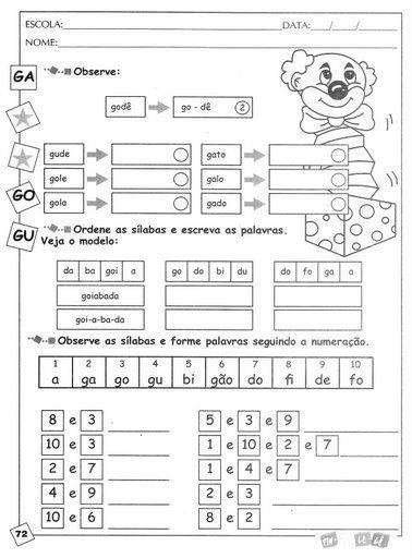 5xx Error Atividades De Silabas Atividades Escolares Atividades