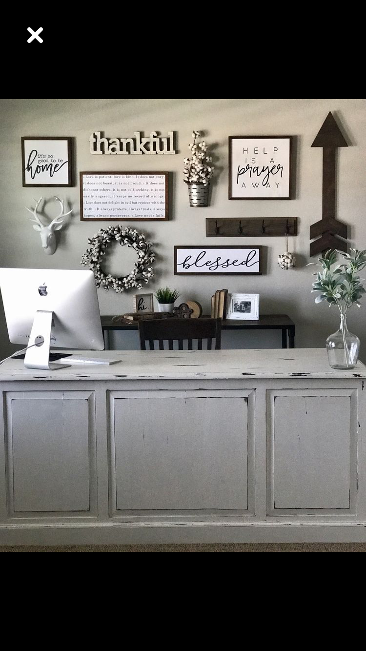 Pin By Alison Furge On Foyer Home Decor Home Office Decor Wall