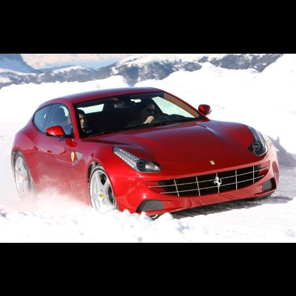 the ferrari ff can it handle the snow damn right it can its 4x4 baby fast and furious. Black Bedroom Furniture Sets. Home Design Ideas