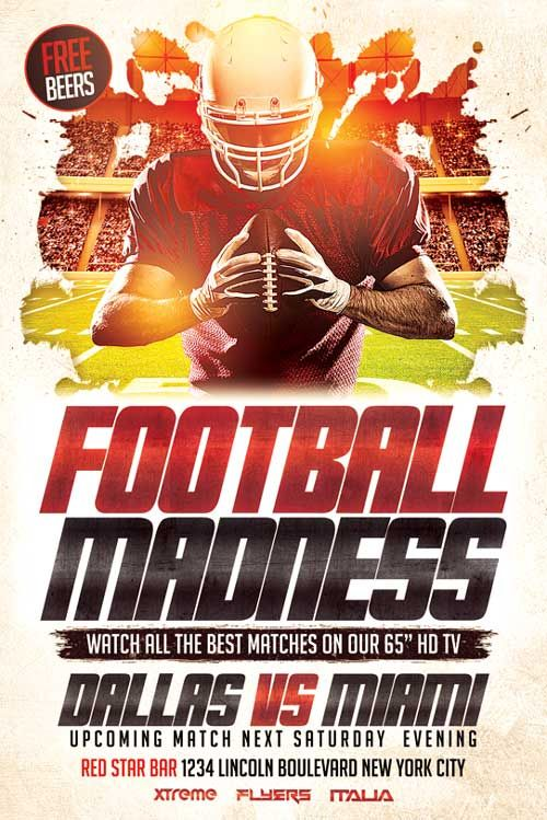 Football Flyer Template  HttpXtremeflyersComFootballFlyer