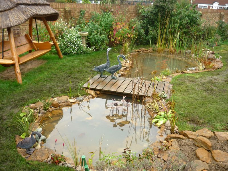 Small landscape bridges garden bridge plans wood for Garden pond ideas for small gardens