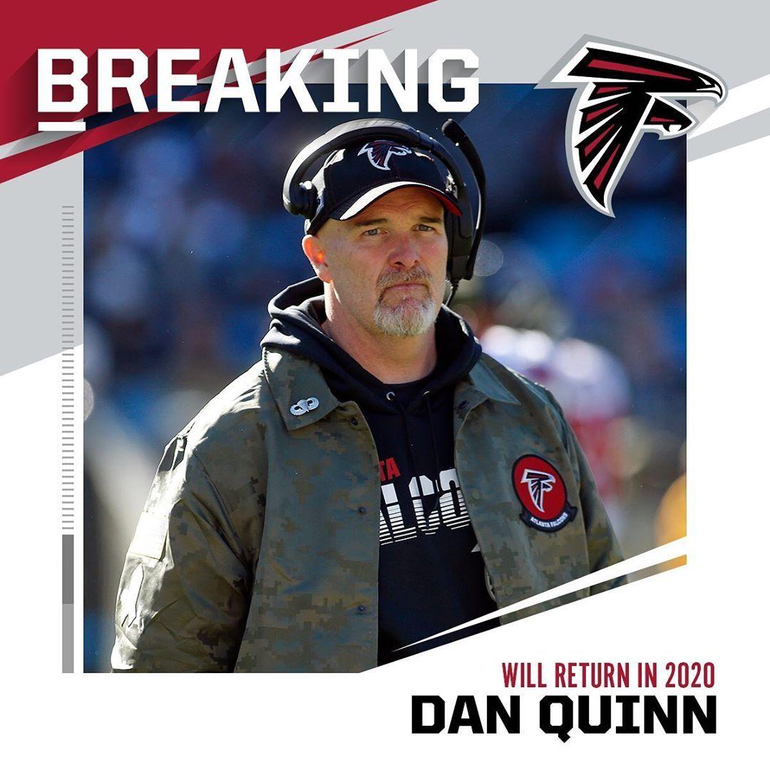 Nfl Falcons Hc Dan Quinn Will Return In 2020 Brian Blanco Ap Quinn Dan Falcons