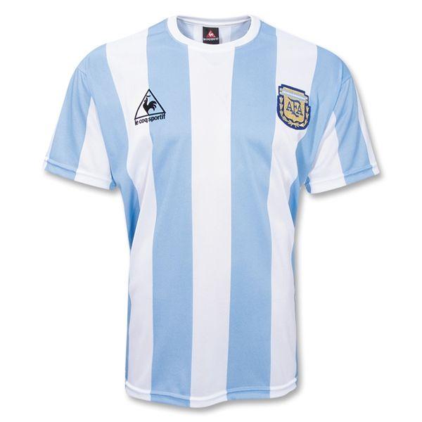 7aec43f9a Argentina 1986 Retro Home Soccer Jersey